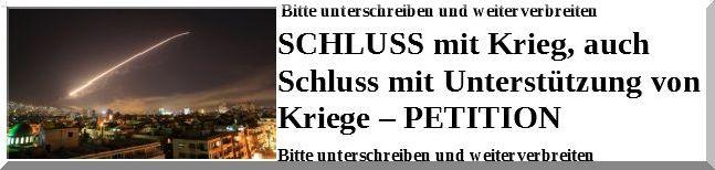 online PETITION - HIER KLICKEN !!!